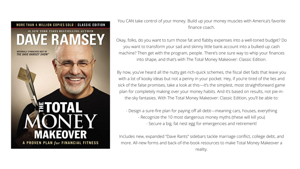 """Cover and Blurb of """"The Total Money Makeover: Classic Edition: A Proven Plan for Financial Fitness by Dave Ramsey"""""""