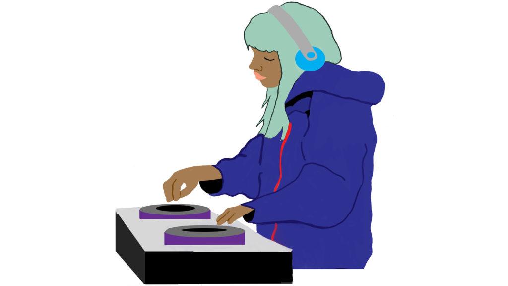 Copyleft allows the DJ to make remixes of popular songs.